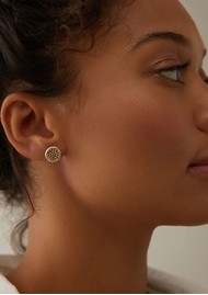 ANNA BECK Classic Smooth Rim Studs - Gold & Silver