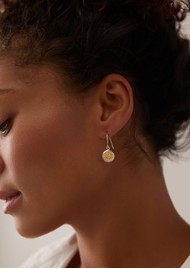 ANNA BECK Classic Smooth Rim Circle Drop Earrings - Gold & Silver