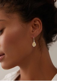 ANNA BECK Classic Smooth Rim Teardrop Earrings - Gold & Silver
