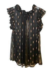 STARDUST Victoria Sun Top - Black Confetti, Bronze & Silver