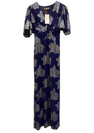 STARDUST Olivia Floral Maxi Dress - Navy Metal