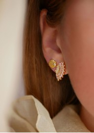 ENAMEL COPENHAGEN Tilly Earrings - Gold & Light Pink