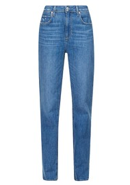Paige Denim Sarah High Rise Straight Ankle Jeans - Rural Distressed