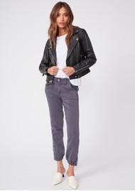 Paige Denim Mayslie Velvet Side Stripe Jogger - Vintage Pearl Grey