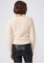 Paige Denim Elizabeth Wool Mix Cable Sweater - Ecru
