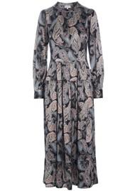 DEA KUDIBAL Seraphina Silk Dress - Paisley Black
