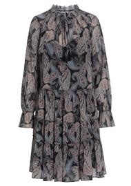 DEA KUDIBAL Maria Printed Silk Dress - Paisley Black