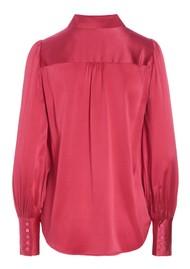 DEA KUDIBAL Cadence Mulberry Silk Blouse - Power Pink