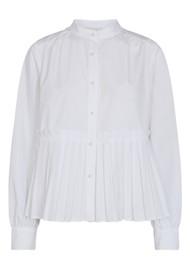 LEVETE ROOM Peng 1 Cotton Mix Blouse - White