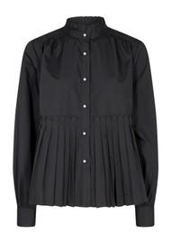 LEVETE ROOM Peng 1 Cotton Mix Blouse - Black