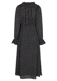 LEVETE ROOM Pam 1 Polka Dot Printed Dress - Black