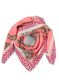 LOLLYS LAUNDRY Cora Printed Scarf - Neon Pink