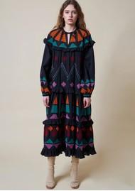 STELLA NOVA Esther Cotton Dress - Dark Colourful