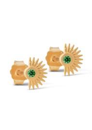 ENAMEL COPENHAGEN Petite Soleil Stud Earrings - Green Cz