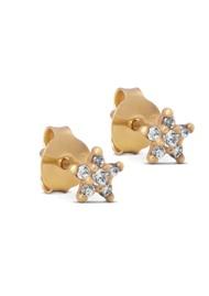 ENAMEL COPENHAGEN Fleur Stud Earrings - Gold
