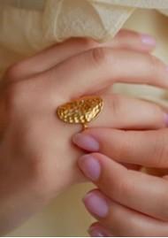 ENAMEL COPENHAGEN Zola Hammered Ring - Gold