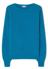 American Vintage Rozy Knitted Jumper - Turquoise
