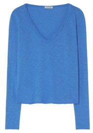 American Vintage Sonoma V Neck Long Sleeve Top - Olympiade
