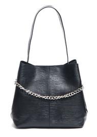NUNOO Chiara Lizard Leather Bag - Black