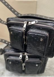 NUNOO Ellie Ostrich Leather Bag - Black