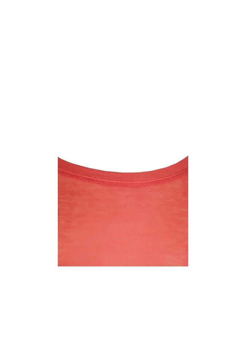 American Vintage Massachussets Long Sleeve Tee - Vermilion Coral main image