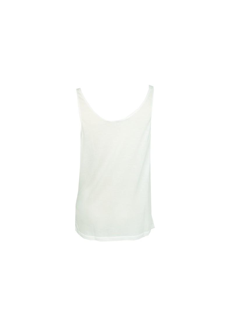 All My Love Basic Cowl Neck Cashmere Mix Vest - White main image