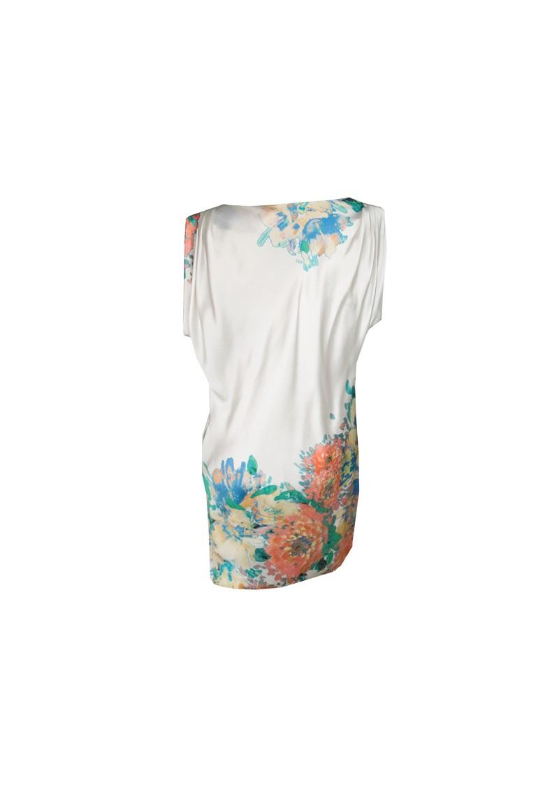 Paul and Joe Sister Lola Silk Flower Print Dress - Cream main image