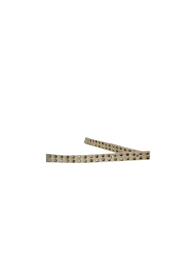 Paul and Joe Sister Sicile Narrow Studded Belt - Nude main image