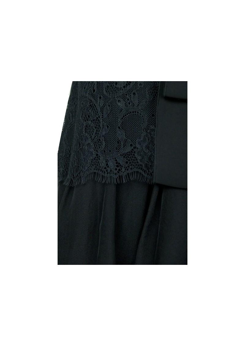 Day Birger et Mikkelsen  Lace Mix Silk Top - Black main image