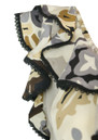 Hale Bob Silk Ruffled V Neck Dress - Light Grey