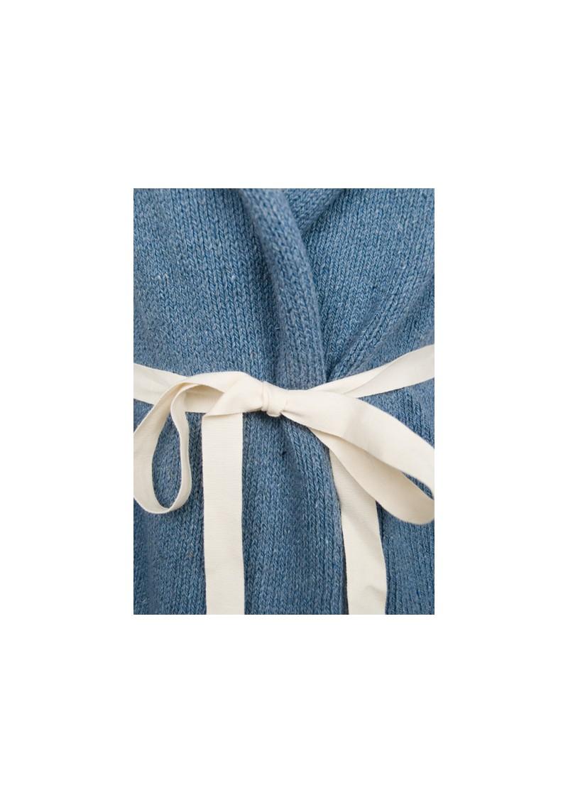 American Vintage Native Wrap Sleeveless Cardigan - Jean Blue main image