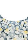 American Vintage Lincoln Floral Print Silk Tank - Lemon, Navy & Cream