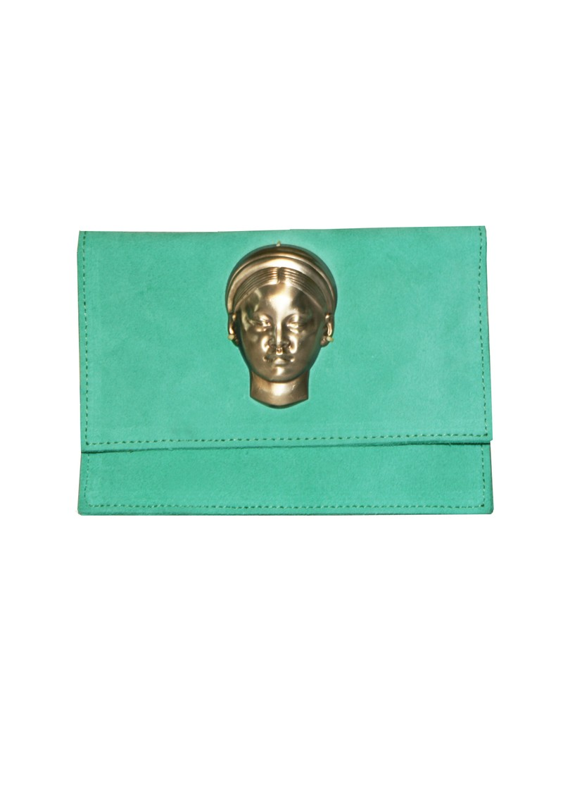 Sous Les Paves Negroni Small Clutch with Face - Mint main image