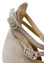 Black Lily Mathilda Leather Sandals - Shadow Grey