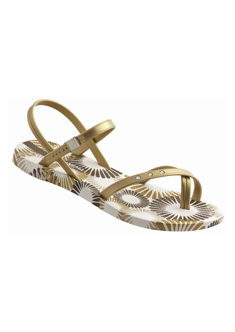 a745314cdbb5fe Diamond Cross Over Sandal - Gold and White main image