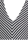 Butter By Nadia Yves Long Jersey Dress - Black & White Stripe