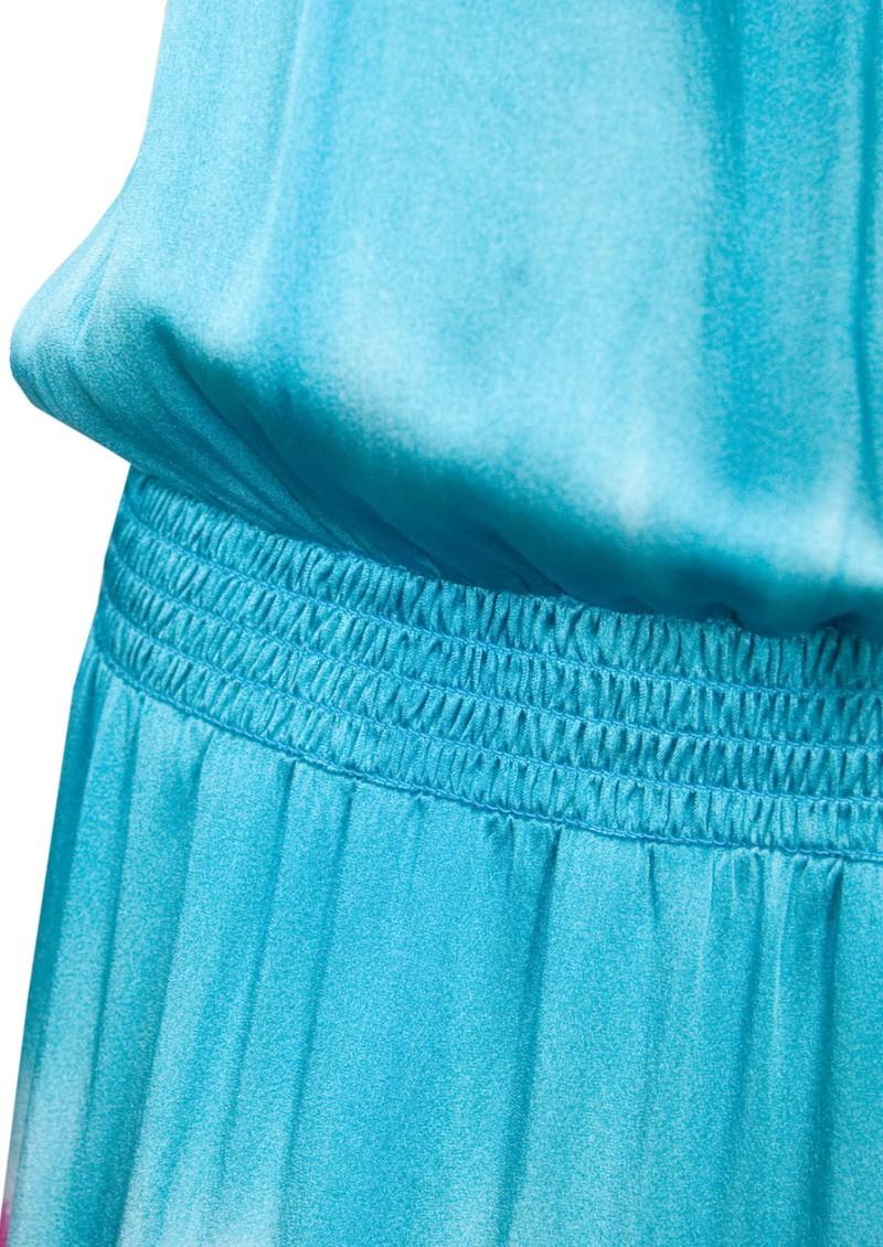Hale Bob Tie Dye Silk Stretch Maxi Dress - Teal & Pink main image