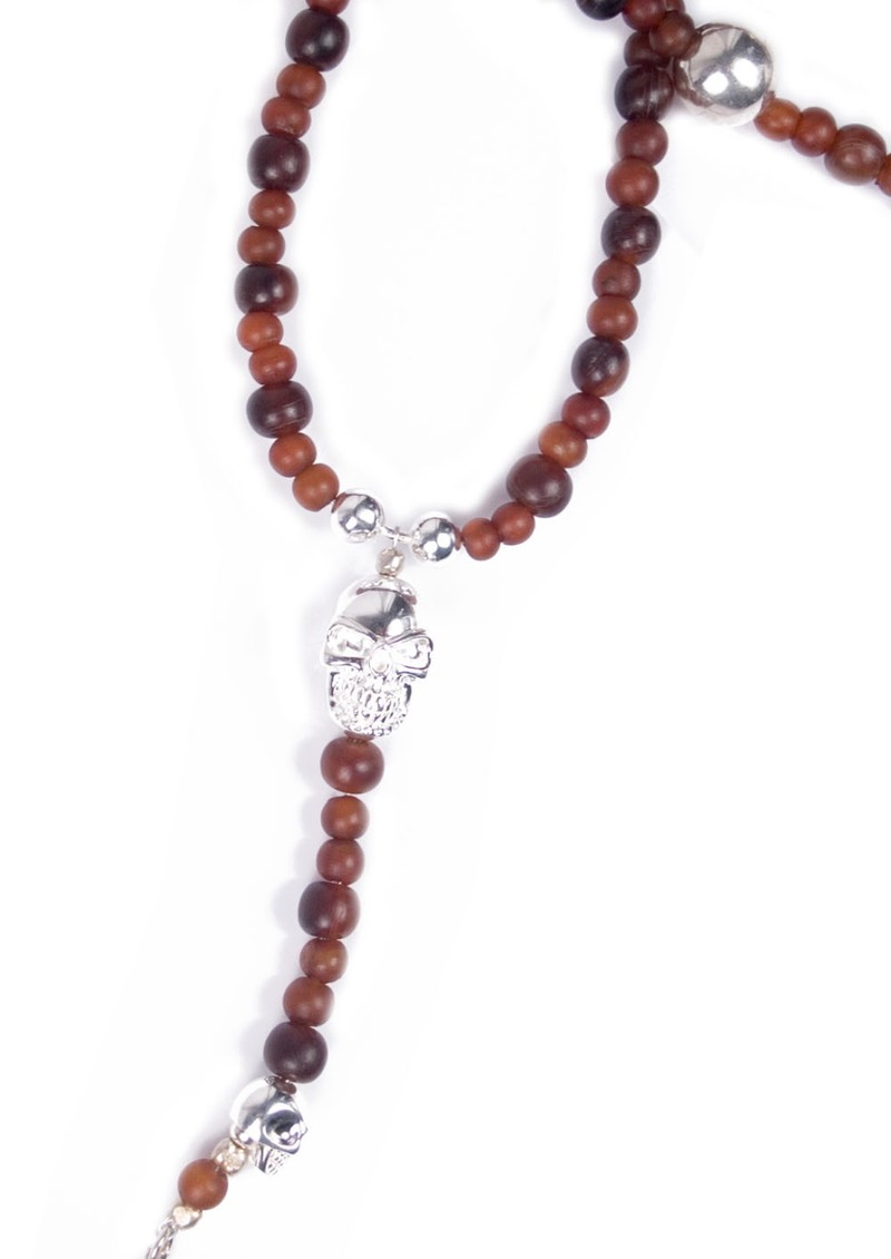 JuJu Skull Rosary Necklace main image