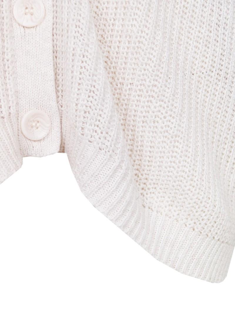 American Vintage Tinseltown Cotton Cardigan - Nude Melange main image