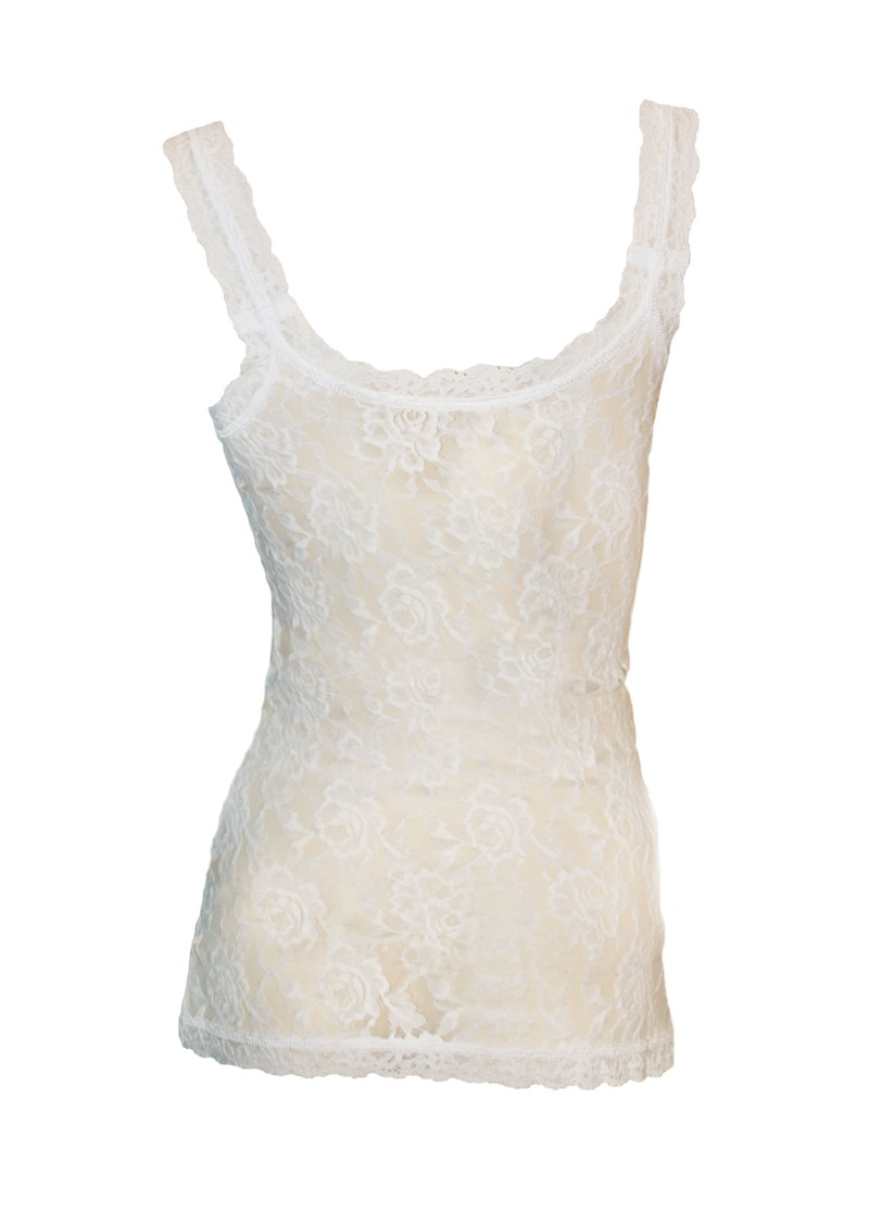 Signature Lace Camisole - White main image