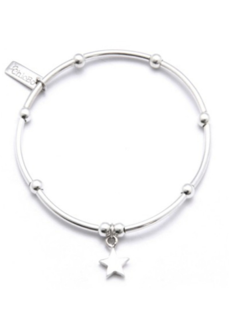 ChloBo Mini Noodle Ball with Star Charm - Silver main image