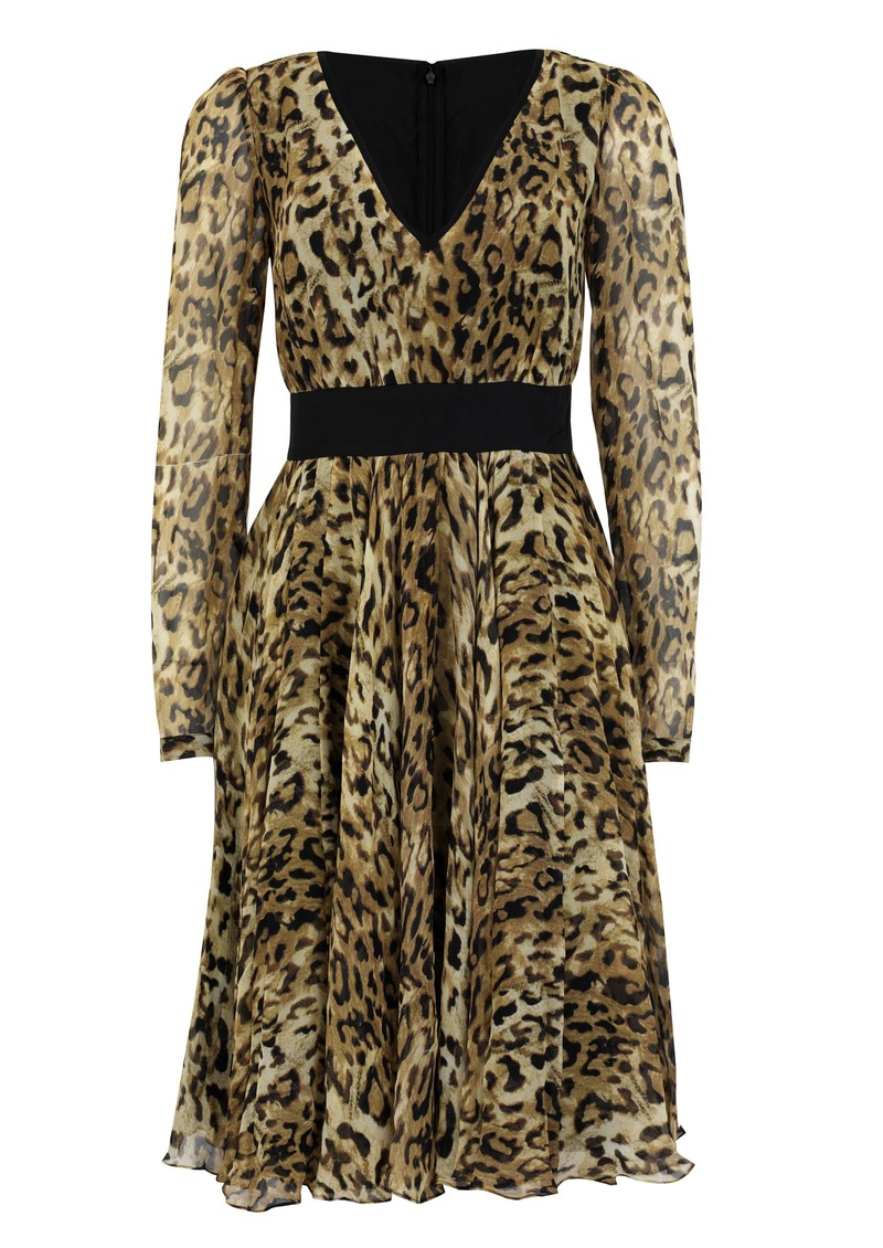Project D Vienna Silk Dress - Leopard main image
