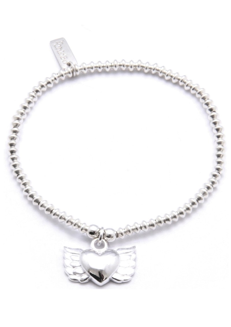 ChloBo Cute Mini Disc Bracelet with Winged Heart main image