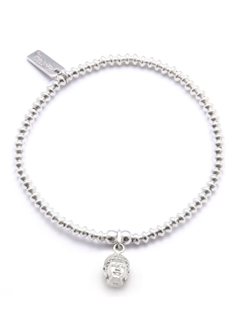 ChloBo Cute Charm Bracelet With Buddha Head - Silver main image