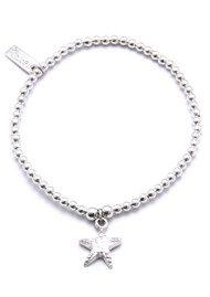 ChloBo Cute Charm Starfish Bracelet - Silver