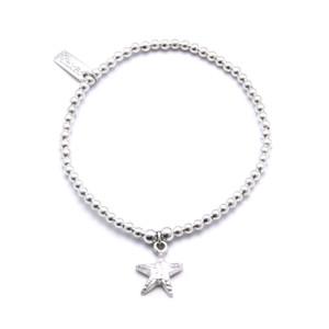 Cute Charm Starfish Bracelet - Silver