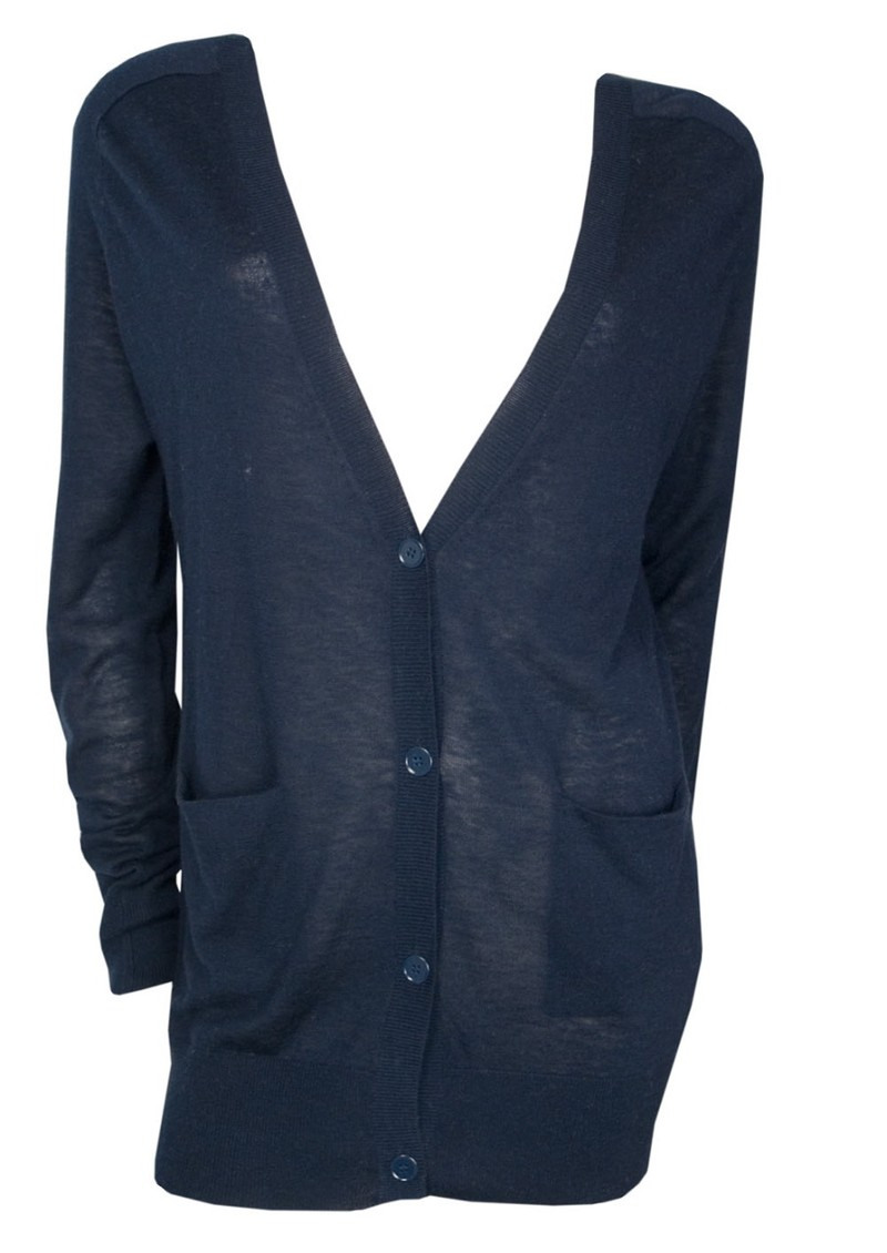 Magnolia Cashmere & Wool Mix Long Cardigan - Navy main image