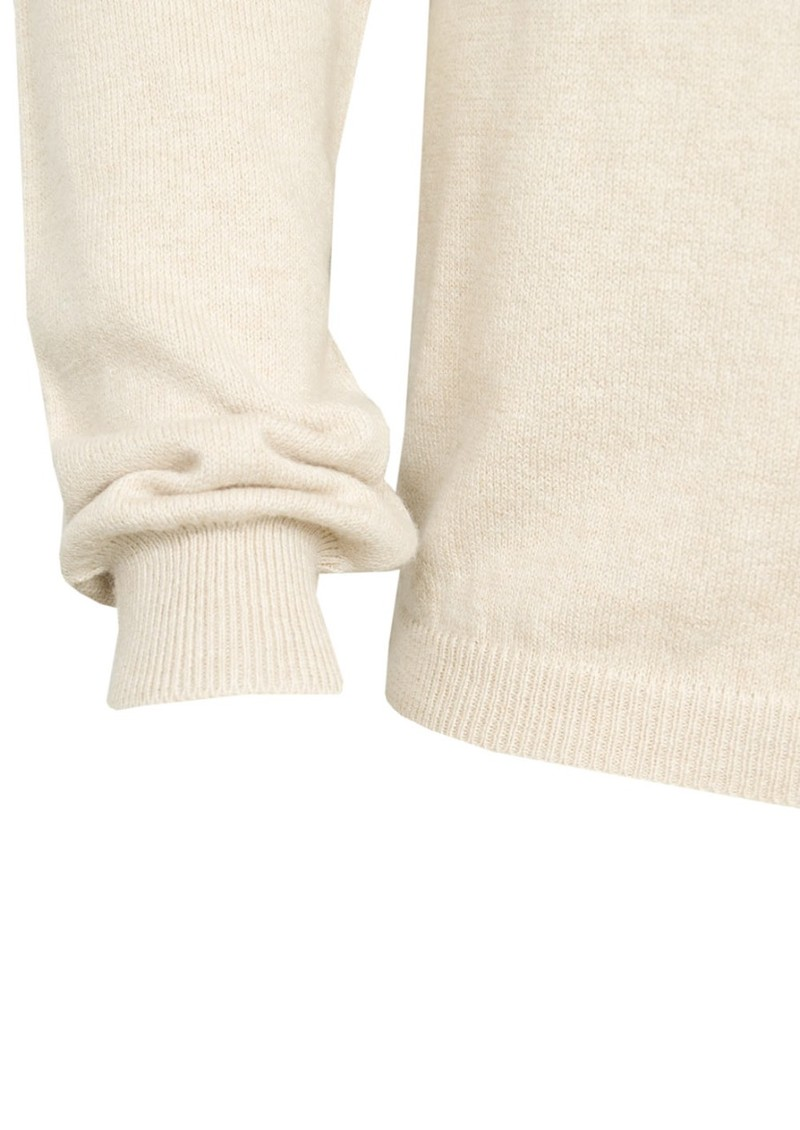 American Vintage Midway Wool & Cashmere Mix Jumper - Sand main image
