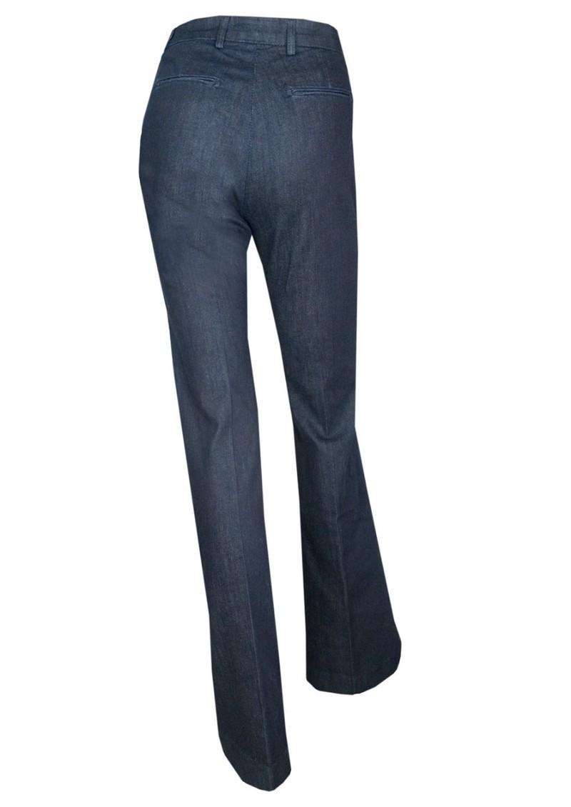 Current/Elliott The High Rise Neat Trouser - Meriwether Dark Blue main image