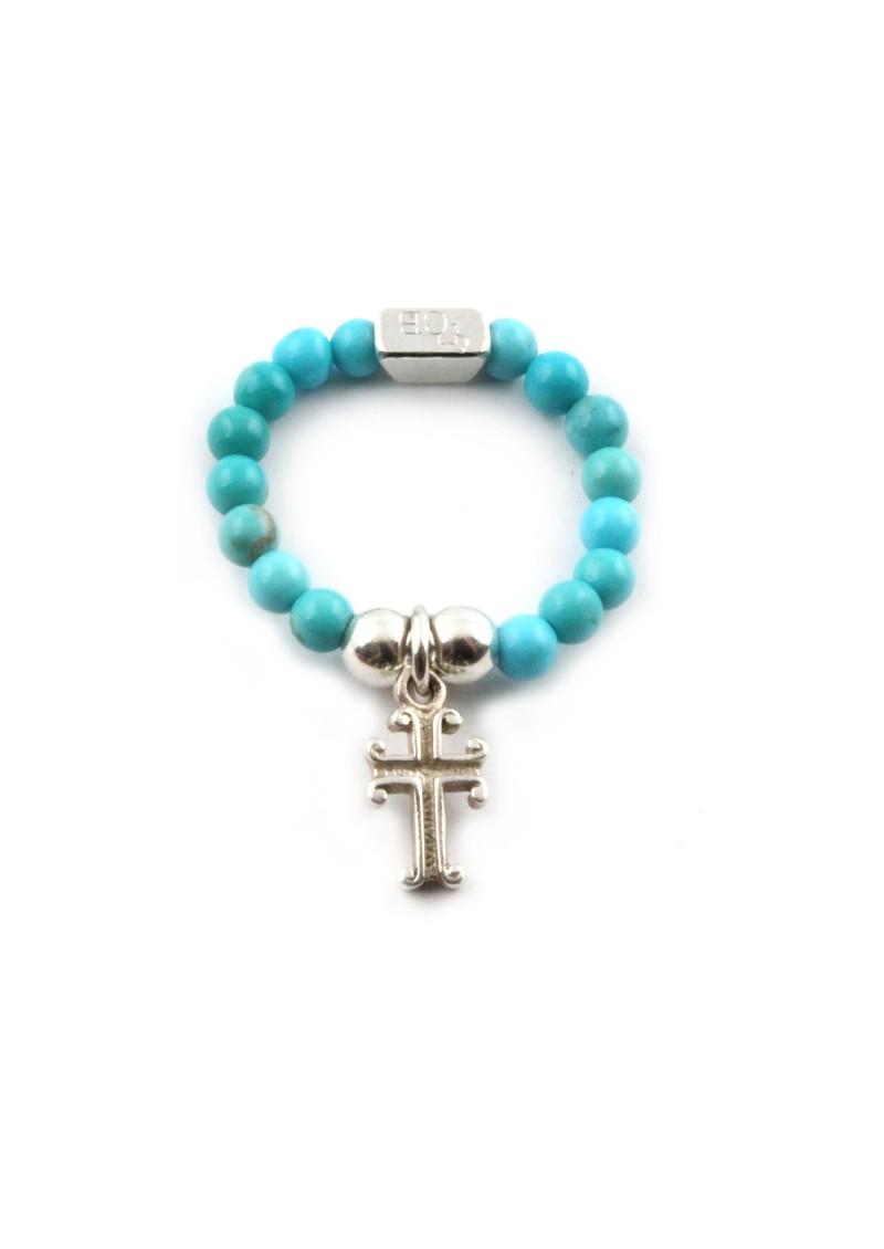 ChloBo Turquoise Ring With Cross Charm main image